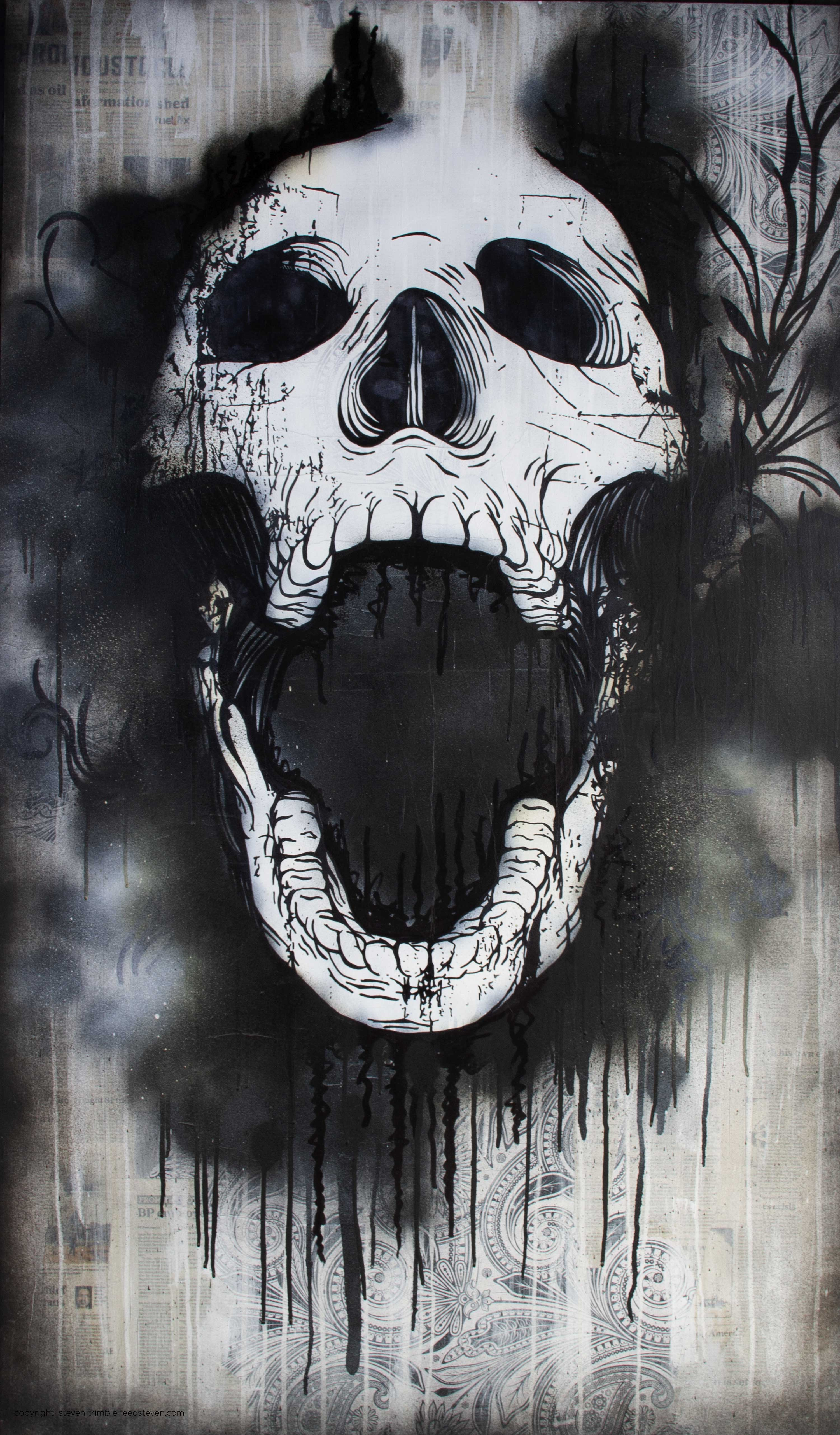 in the mouth... - steven trimble art