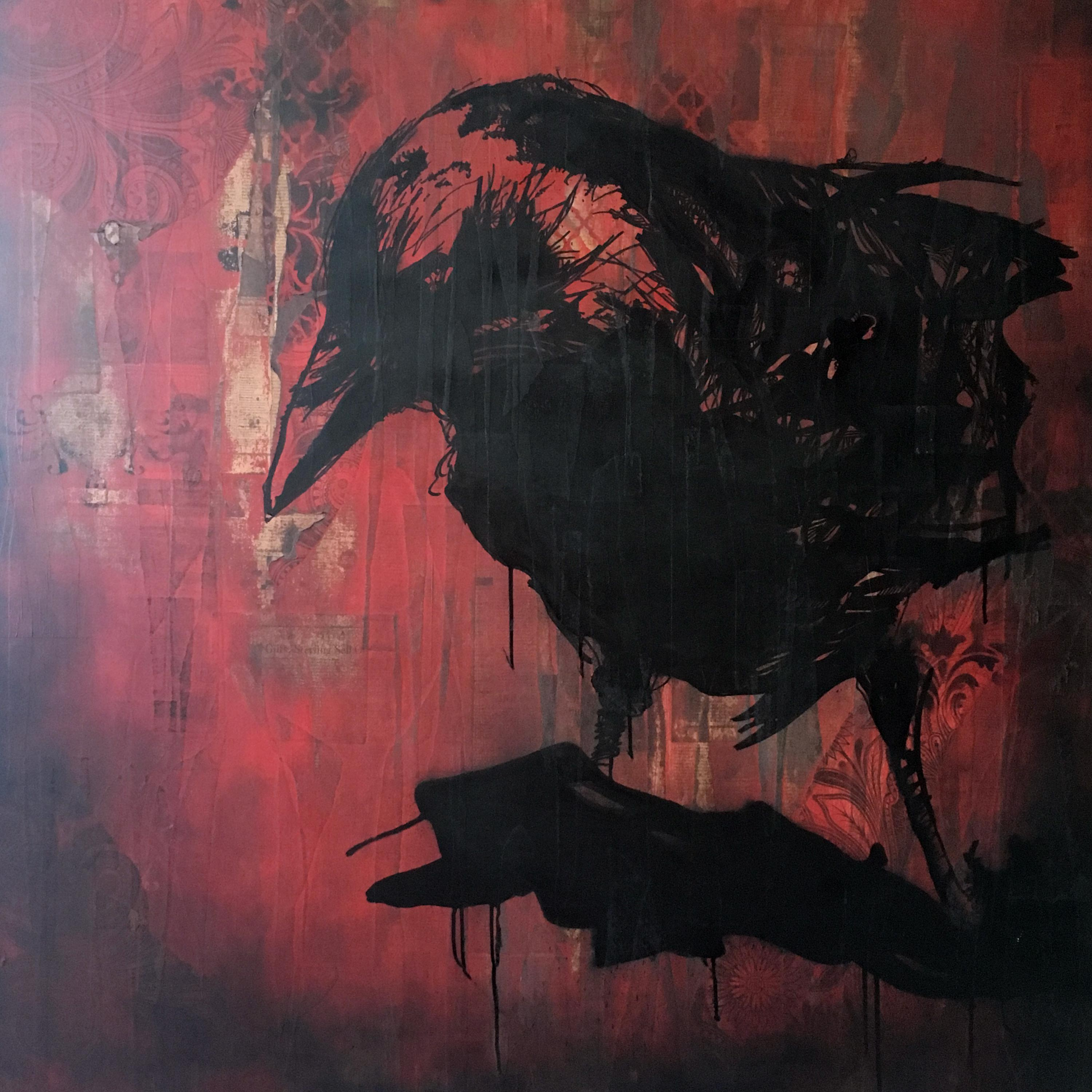 The Raven in red - steven trimble art